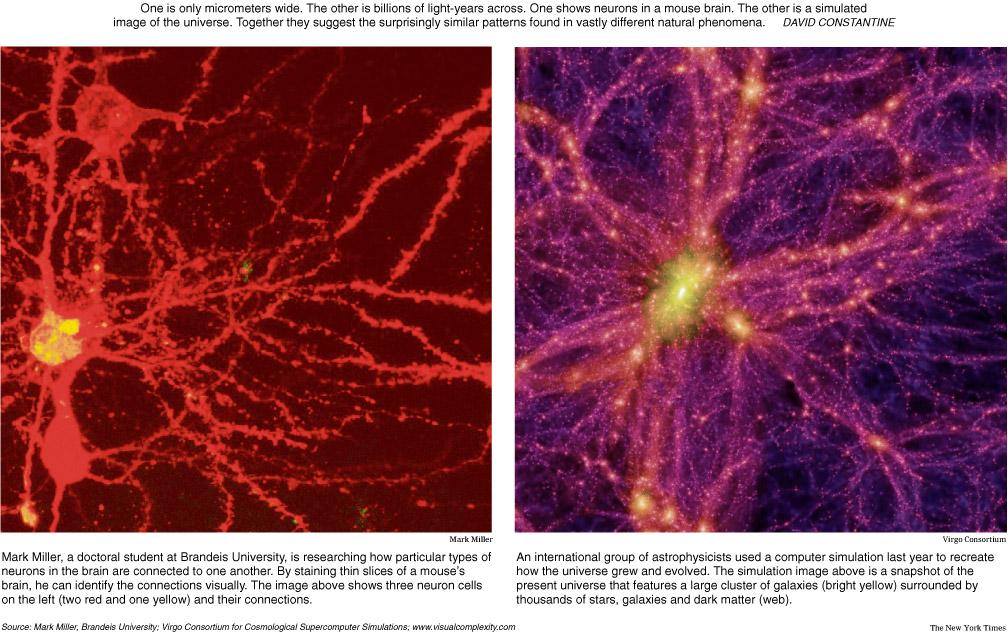 Descubren la red que une las galaxias